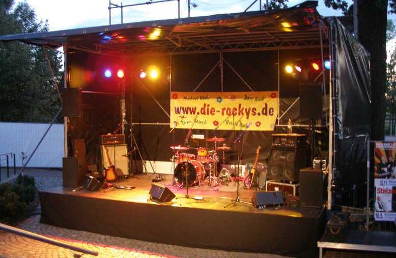 Mobile Bühnen Vermietung 6x4m